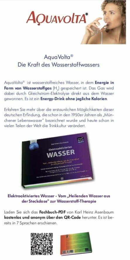 Faltfllyer Wasserstoff-Wasser und AquaVolta Produkte inkl Gutscheincode S1