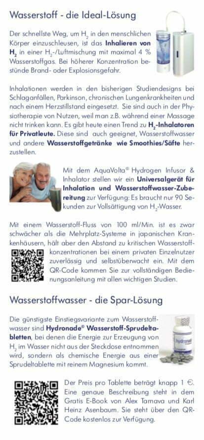 Faltfllyer Wasserstoff-Wasser und AquaVolta Produkte inkl Gutscheincode S3