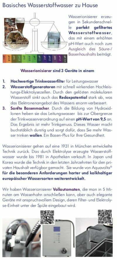 Faltfllyer Wasserstoff-Wasser und AquaVolta Produkte inkl Gutscheincode S4