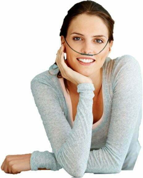 AquaVolta Vortex Booster Inhalator Frau