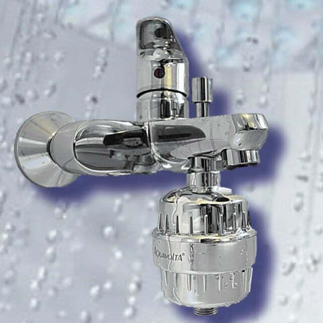 Hepta-Step Duschwasser-Filter Aktivkohle und Biokeramiken bg