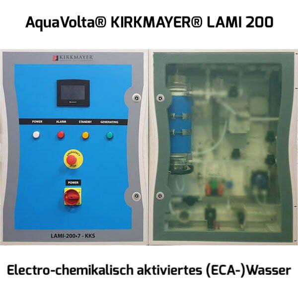 AquaVolta Kirkmayer LAMI 200 Anolyt -HClO-Generator Herstellung Desinfektionsmittel ac 600