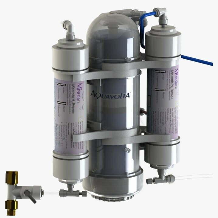 AquaVolta® OSMION 1000 GPD Umkehrosmose-Anlage mit Ph-Wert Anhebung und H2-Gas Anreicherung
