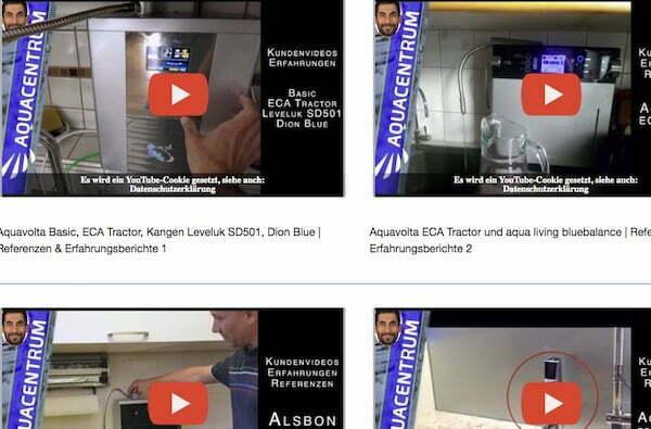 Kundenvideos Installierte Wasserionisierer Herstellung basisches H2-Wasser