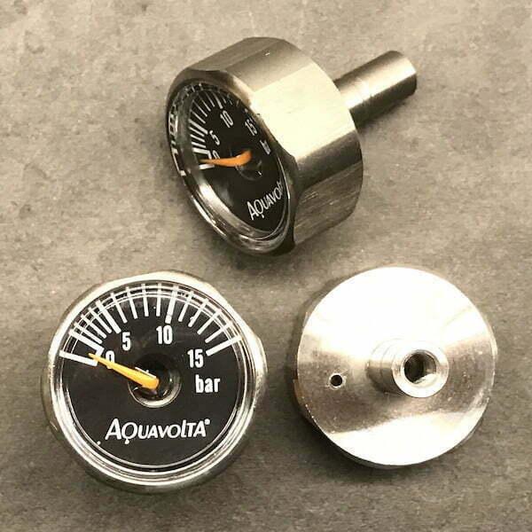 Aquavolta® Manometer 1 - 15 bar - Edelstahl - H2 -Wasser-bestandig 600