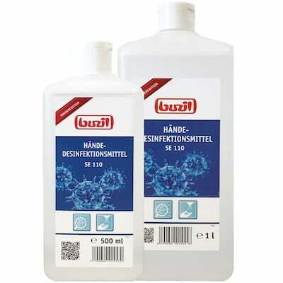 buzil SE110 Händedesinfektion Euroflaschen 500 und 1000ml 400
