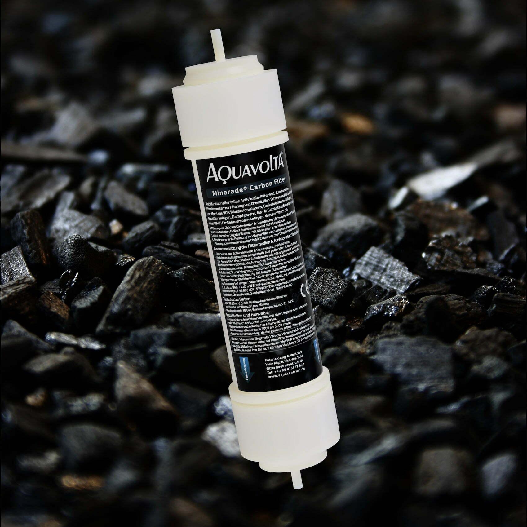 Aktivkohlegranulat-Filter inkl multifunktionellen Filter-Keramiken - Hintergrund
