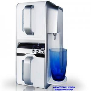 Hybrid-Wasserionisierer-AQUACENTRUM-Basen-Wasser-Glas