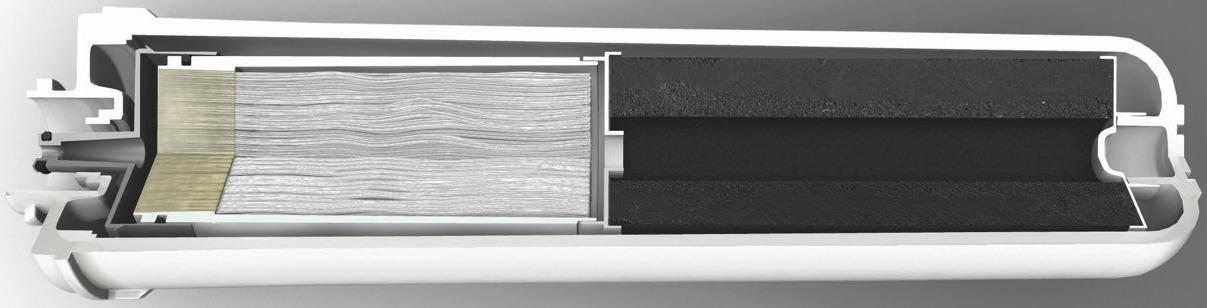 Aquaphor K7B Wasserfilter Aktivkohle inkl hohlfasermembrane CAD Schnitt duenn
