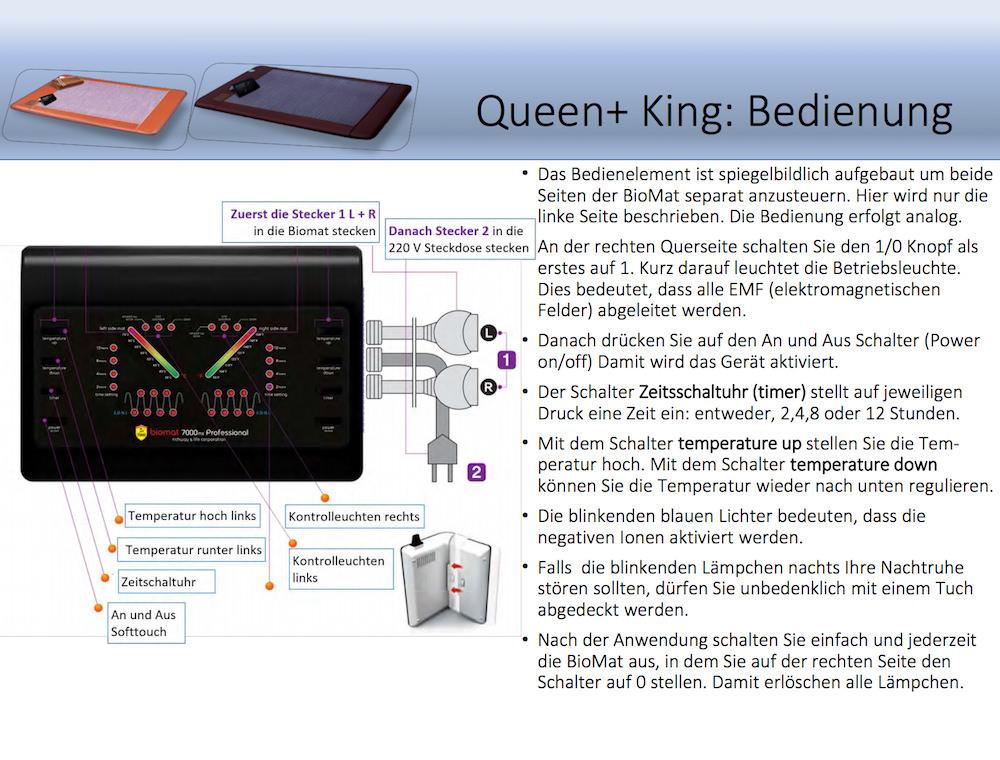 BioMat Amethyst Richway Infrarotmatte Heilmatte Queen und King Bedienelement-1000