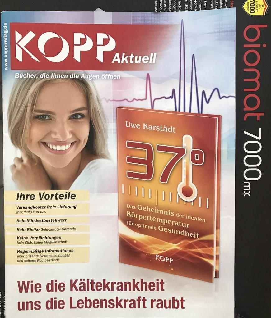 Kopp Verlag -Titelseite Katalog 03-2017- 37 Grad - Die ideale Koerpertemperatur - Uwe Karstaedt 1000