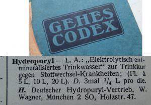 Gehes Codex Hydropuryl Text