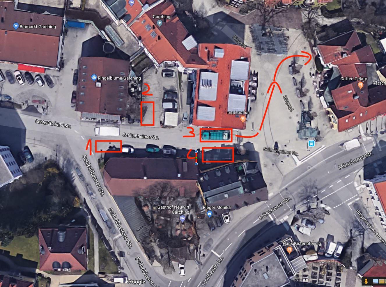 Anfahrt Laster Münchenerstr 4 A 85748 Garching Lasterstellplatz google earth s