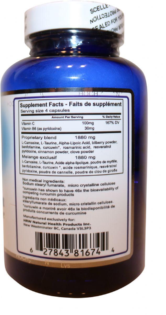 Ageless Defense - ultimate formulation - Nahrungsergaenzungsmittel hinten